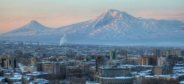 Ararat Mountain as seen from Yerevan