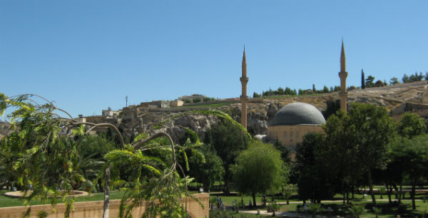 The mosque built on the site where prophet Abraham is believed to have been born.