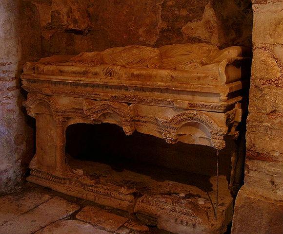 The original tomb of St. Nicholas at the Basilica in Myra.