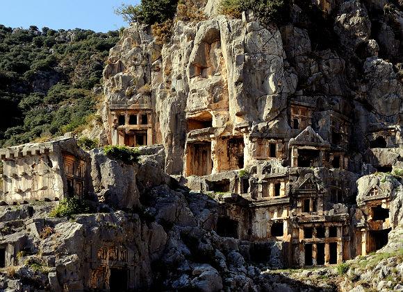 Rock Cut Tombs in Myra.