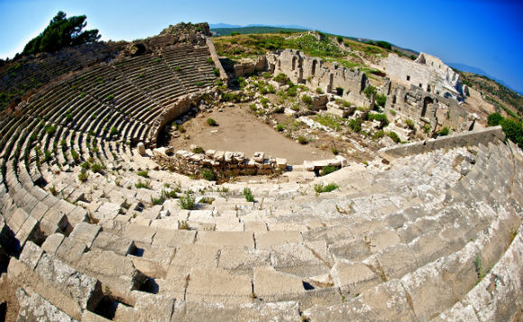 The excavators at Patara have done an excellent job uncovering the amphitheatre at Patara (one of the largest in Anatolia); just a few years ago it was filled with sand, vegetation and rubble.  The view from the top, facing the city center, is fantastic.