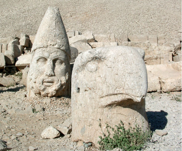 Some of the statues near the peak of Mount Nemrut