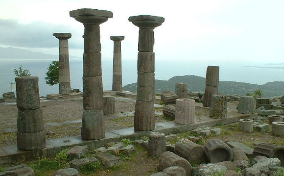 Ruins of the Temple of Athena in Assos.