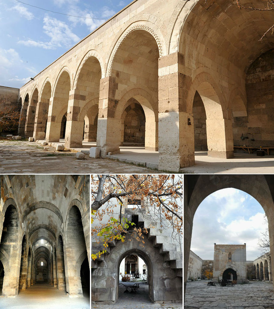 Popular Trade Across Turkey In Medieval Seljuk Times Was Dependent On Camel  This Is A Typical Caravanserai Which Is Situated On The Aksaray Kayseri Highway It Has Two Parts, One Open And One Covered The Open Part Was Built By Aleattin