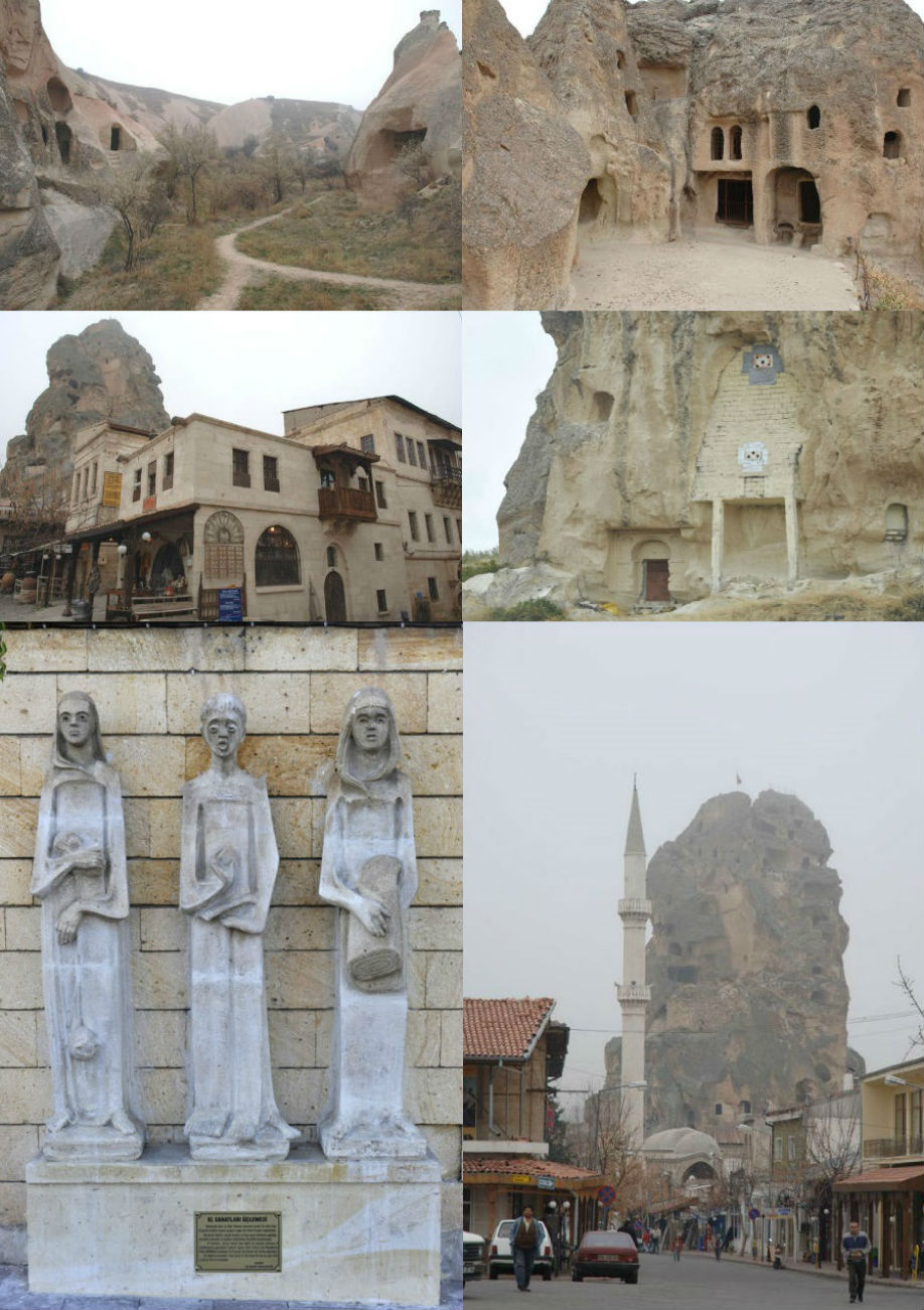 Ortahisar Village and Castle. Ortahisar Cappadocia