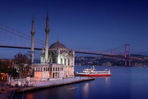 Ortaköy Mosque and the Bosphorus Bridge.
