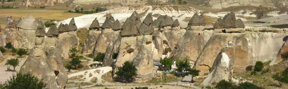 The best place to see three-headed fairy chimneys. Pasabag, the Pasha's Vineyard, is surrounded by incredible natural rock formations; a spectacular scene.