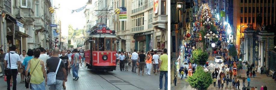 Walk through Istiklal Street Taksim-Istanbul