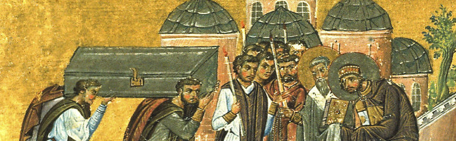 The return of the relics of St. John Chrysostom to the Church of the Holy Apostles in Constantinople.