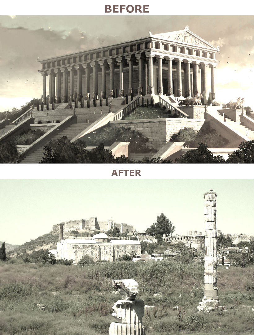 temple of artemis before and after-today