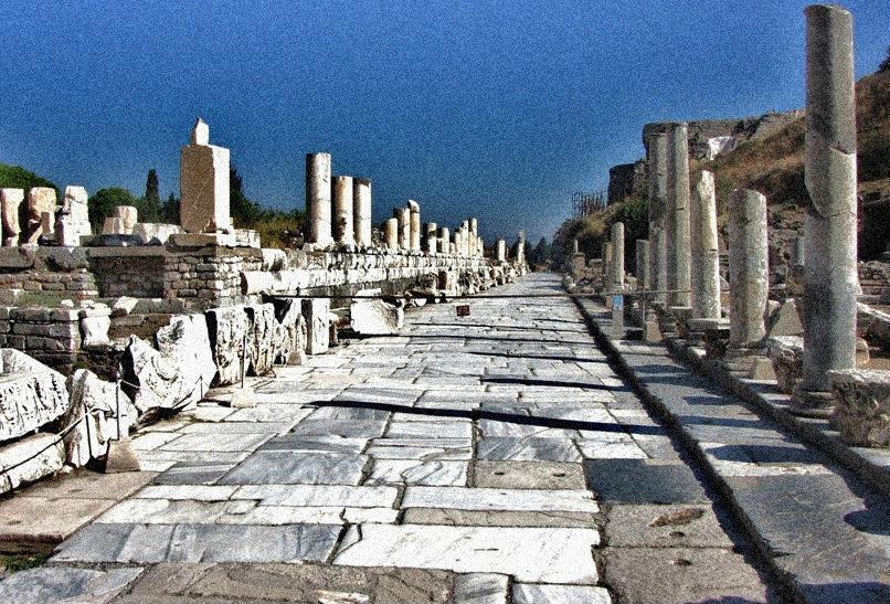 marble streest in ephesus